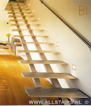 Aluminium trap met een transparante en unieke uitstraling allstairs - Moderne trapmodel ...