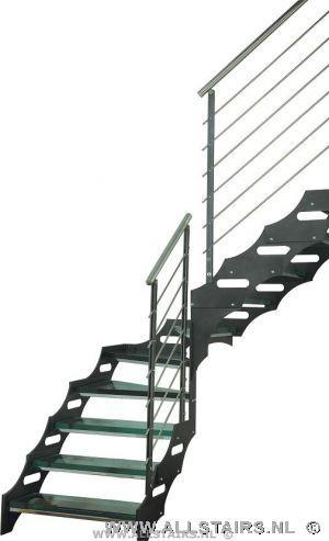 Transparante kwartslag trap met glazen treden iets voor u - Moderne trap kwartslag ...