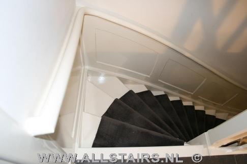 Wonderlijk Houten jaren 30 trap met lambrisering | Allstairs Trappen Benelux YJ-29