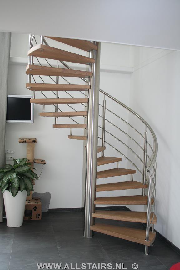 rvs spiltrap met eiken houten treden allstairs trappen
