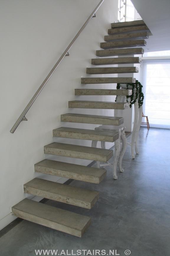 Betonnen trappen b1 - Eigentijds trap beton ...