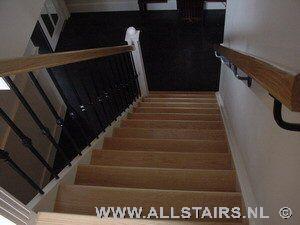 Steektrap met stootborden en eiken treden allstairs for Stootborden trap maken