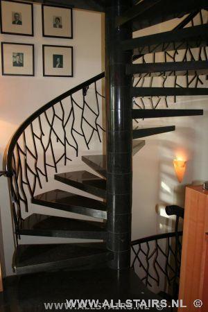 Natuursteen trap met een luxe uitstraling allstairs trappen - Model interieur trap ...